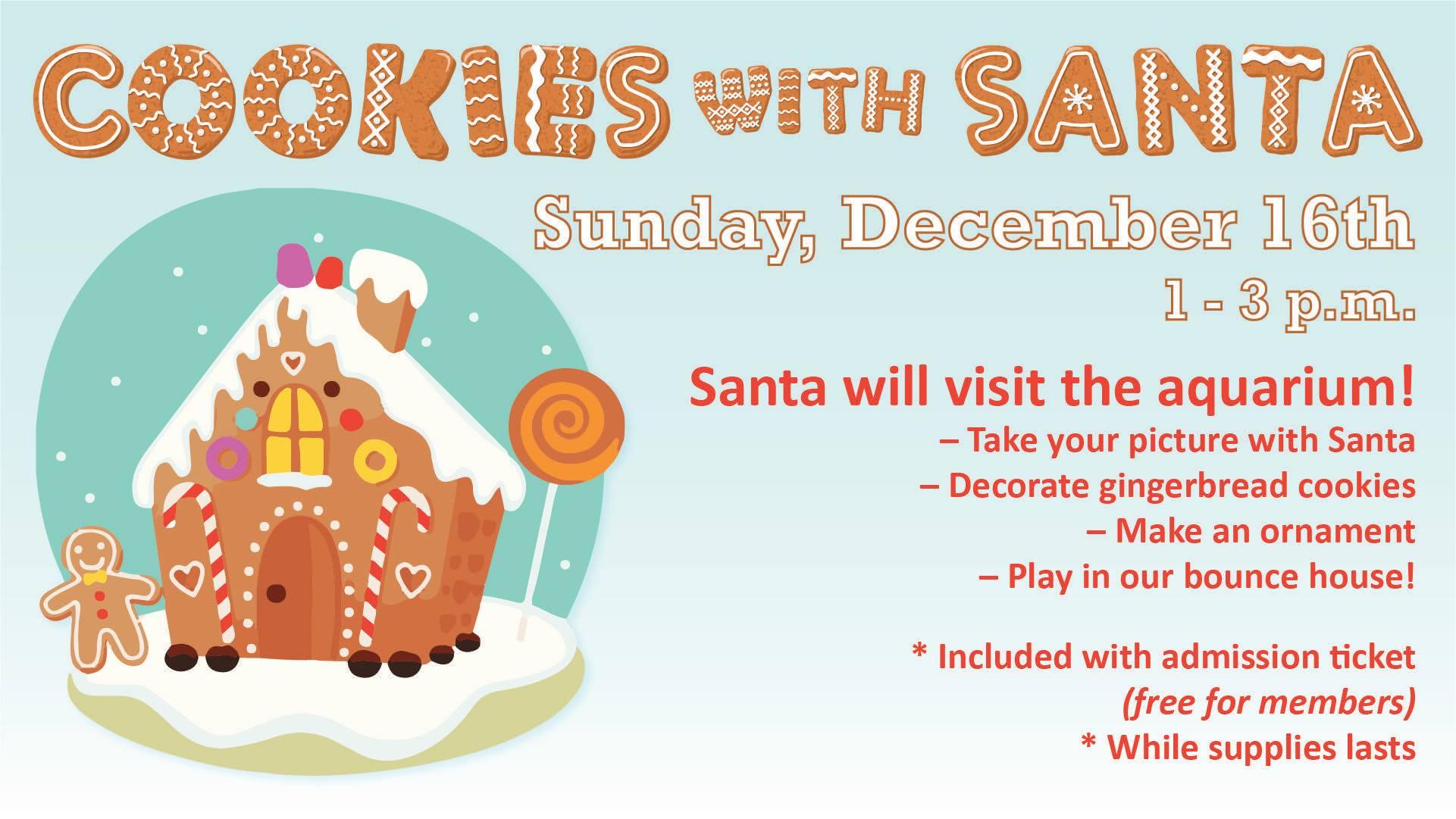 Oklahoma Aquarium Cookies With Santa Jenks Chamber Of Commerce