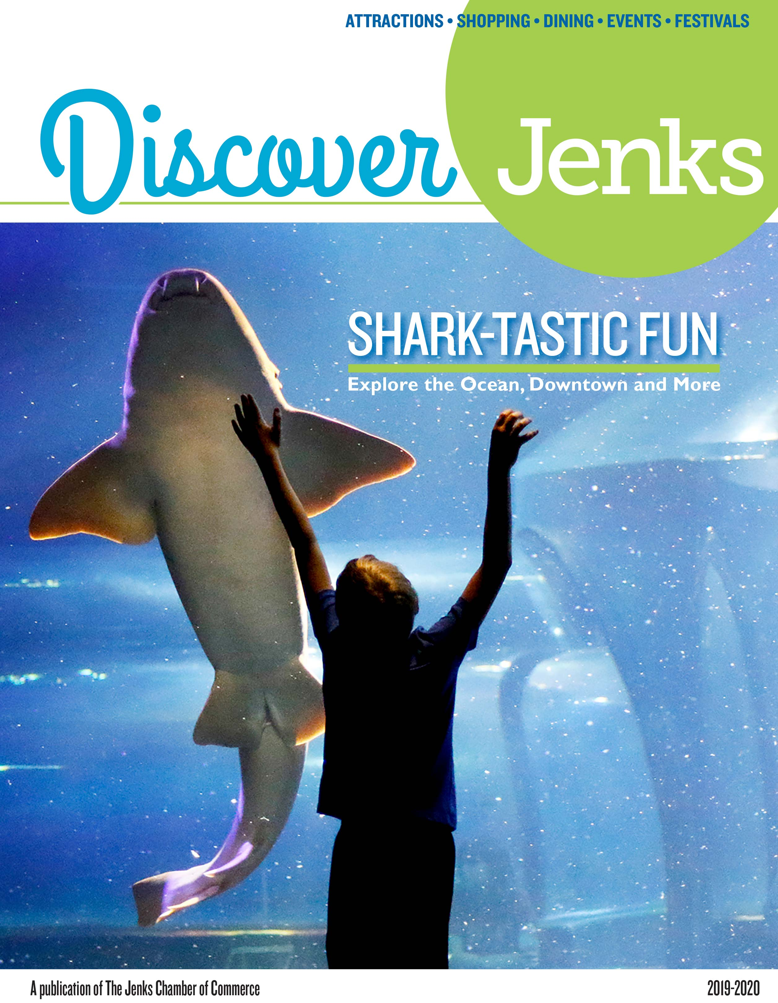 Cover of the 2019 Discover Jenks Magazine