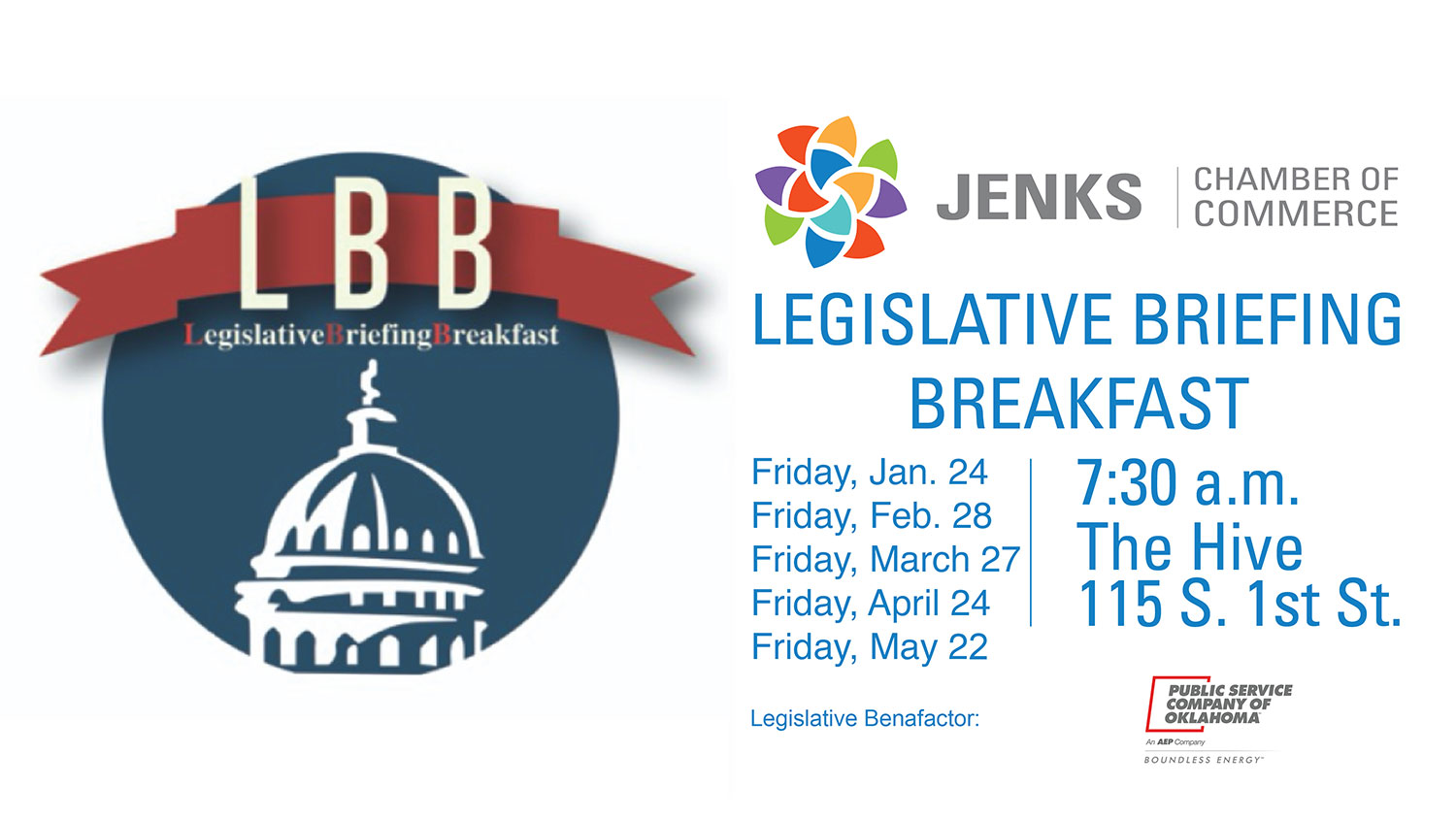 Graphic for the 2020 Legislative Breakfast series.