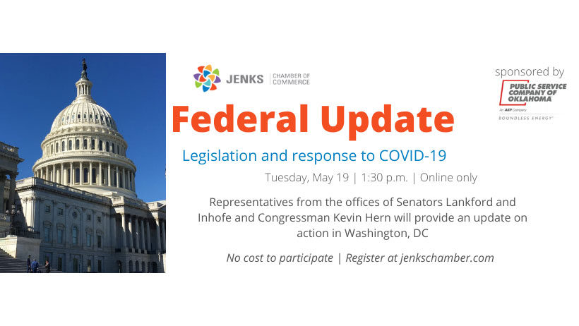 A graphic for a Federal update webinar.