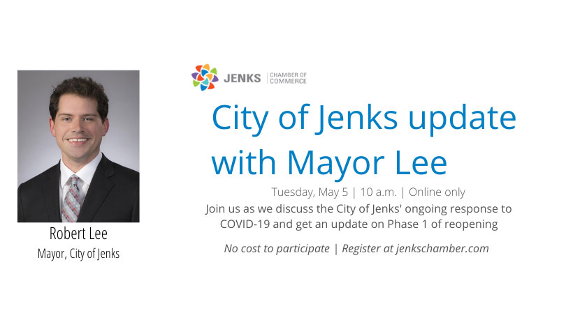 A graphic for another update with Jenks Mayor Robert Lee.
