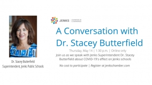 A graphic for an upcoming webinar with Dr. Stacey Butterfield.