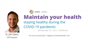 John Owens of 918 Chiropractic South will share health tips in upcoming webinar.