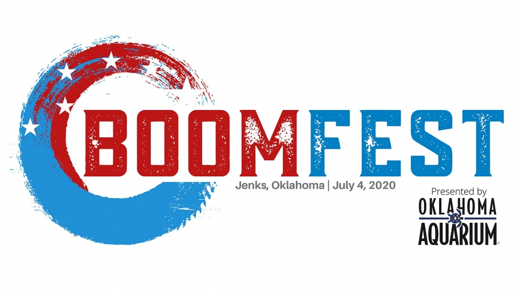 A graphic for Boomfest, a fireworks show sponsored by the Oklahoma Aquarium.