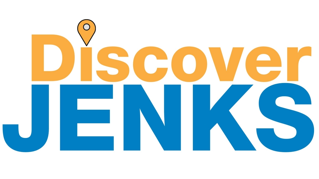 A logo for the Chamber's tourism division, Discover Jenks.