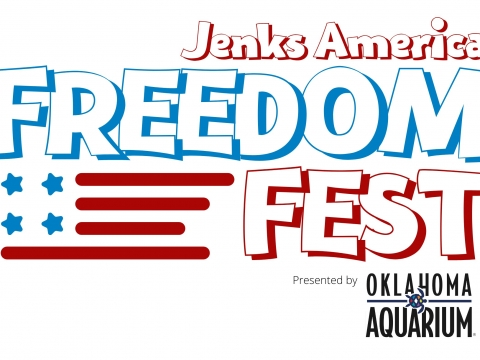 A graphic for Freedom Fest in Jenks, an Independence Day celebration.