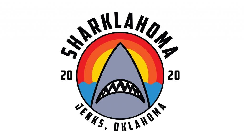A logo for the Jenks Chamber's Sharklahoma celebration.