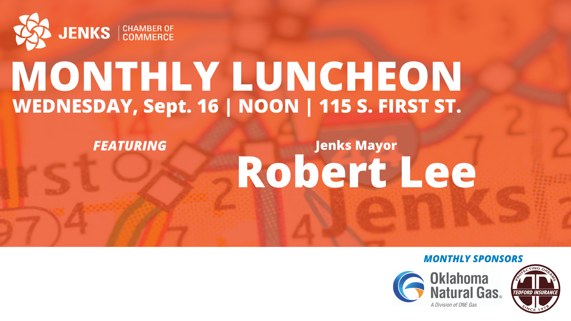 A graphic for the September 2020 Monthly Luncheon