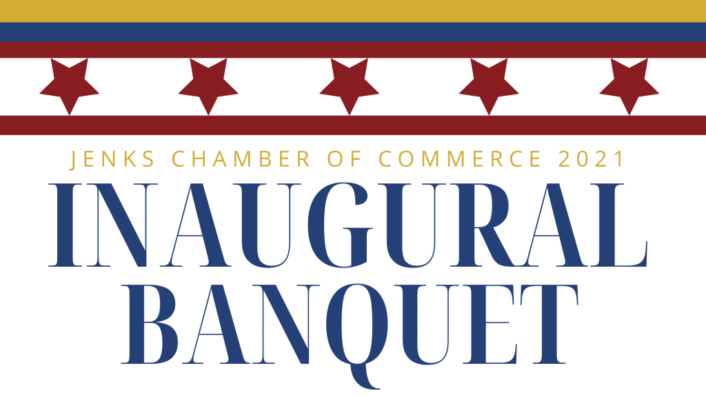 Logo for the 2021 Jenks Chamber Inaugural Banquet