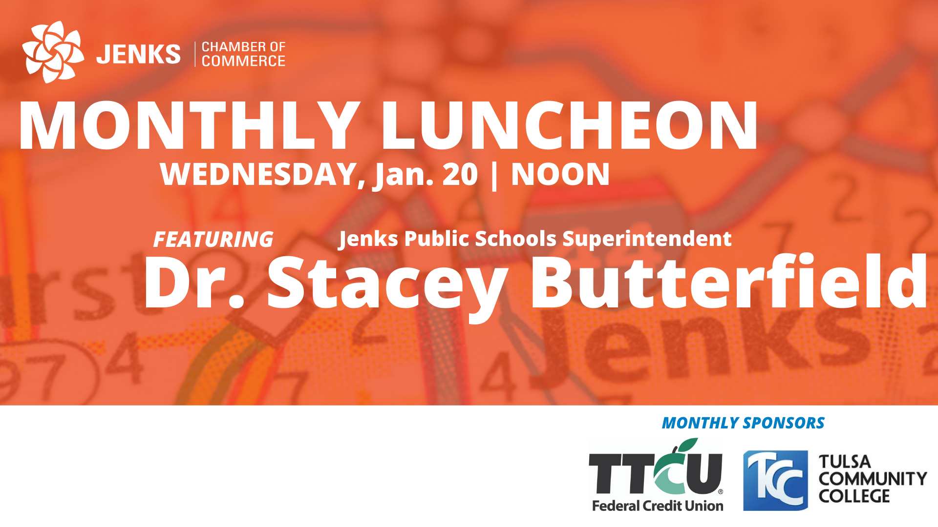 A graphic for the January 2021 MOnthly Luncheon