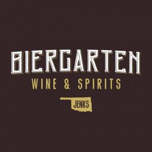 A logo for Biergarten Wine & Spirits