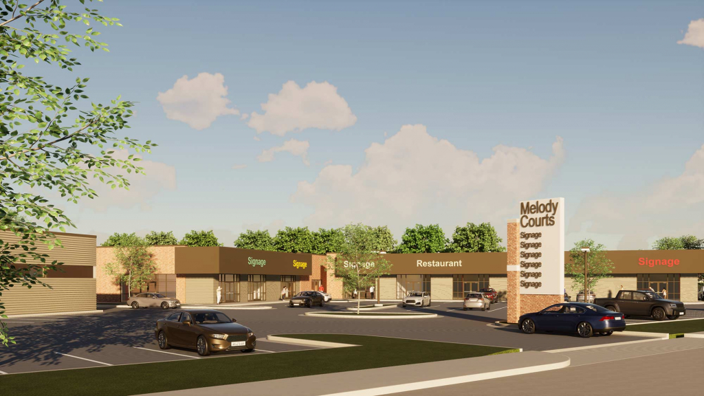 An architectual rendering of the Jenks Melody Courts development