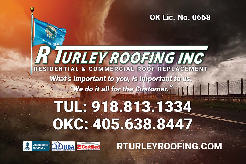 a graphic for R Turley Roofing in Jenks
