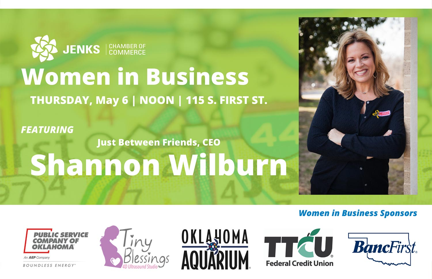 The Chamber Women in Business program will feature Shannon Wilburn as its guest speaker on May 6.