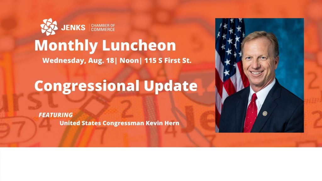 A graphic for the 2021 August Monthly Luncheon