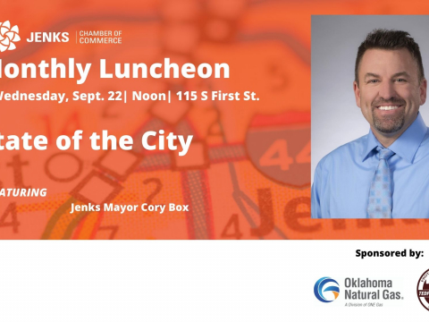The Sept. Monthly Luncheon will feature Jenks Mayor Cory Box.